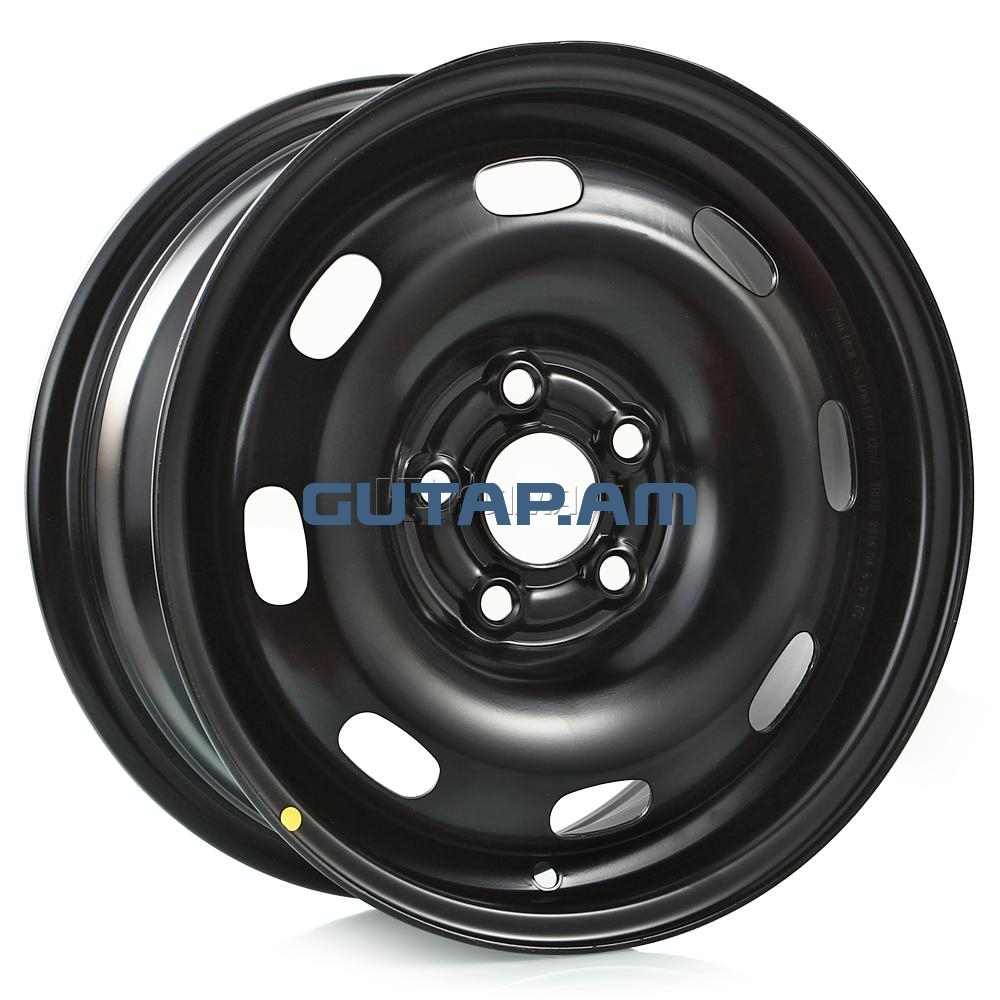 Диск TREBL VW Polo 6.0xR14 5x100 ET37 d57.1, (7250) Black черный